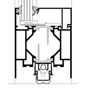 Brandschutztür Schüco ADS80FR30 Türsockel